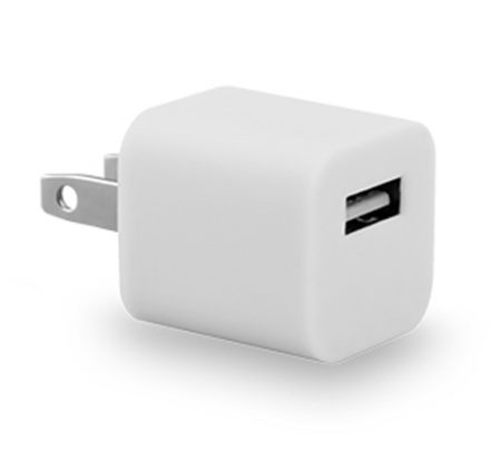 5 Watt USB Travel Charger Cube Universal White Bulk