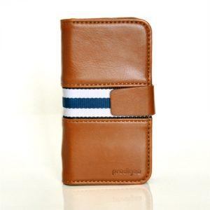 Wallegee+ for iPhone 5:5s, Light Brown Striped 1